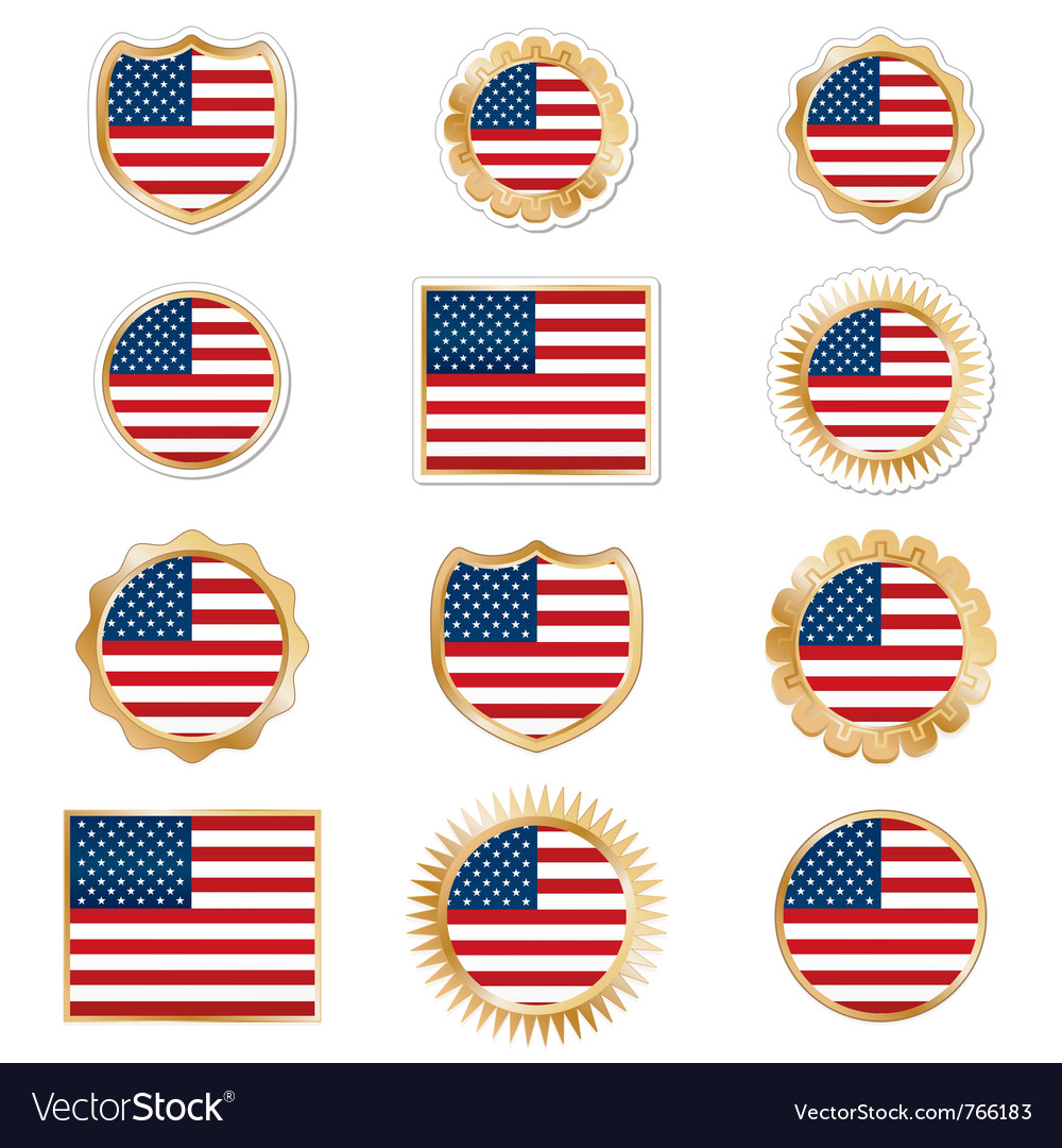 United states emblems vector | Price: 3 Credit (USD $3)