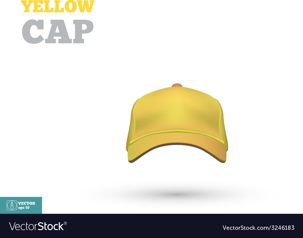 Yellow baseball cap template front view vector | Price: 1 Credit (USD $1)