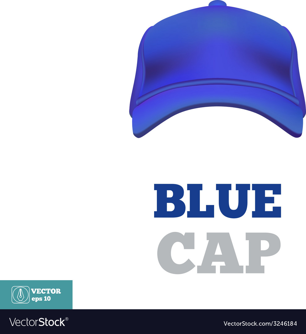Blue baseball cap template front view vector | Price: 1 Credit (USD $1)