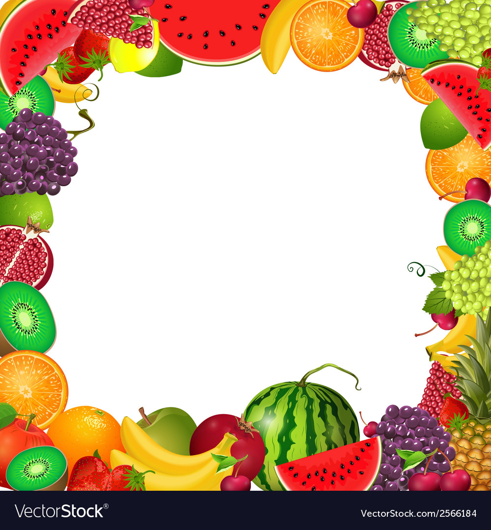 Frame template of fruit for you design vector | Price: 1 Credit (USD $1)