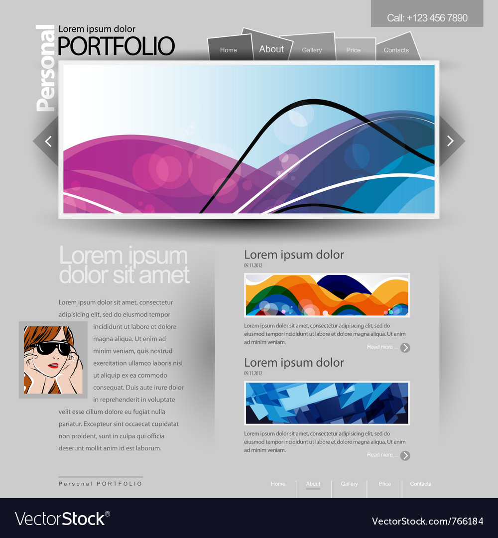 Gray website template 960 grid vector | Price: 3 Credit (USD $3)