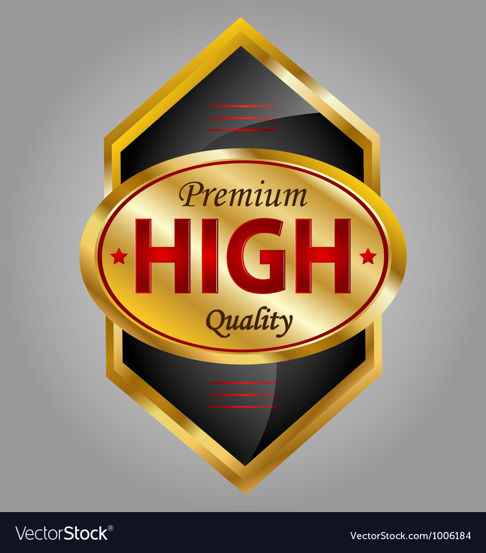High quality product label vector | Price: 1 Credit (USD $1)