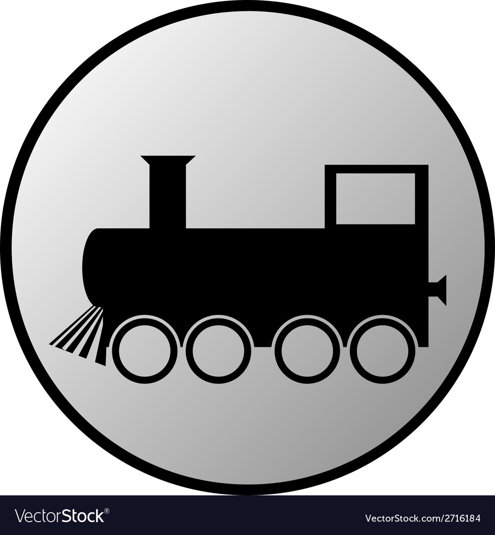Locomotive button vector | Price: 1 Credit (USD $1)