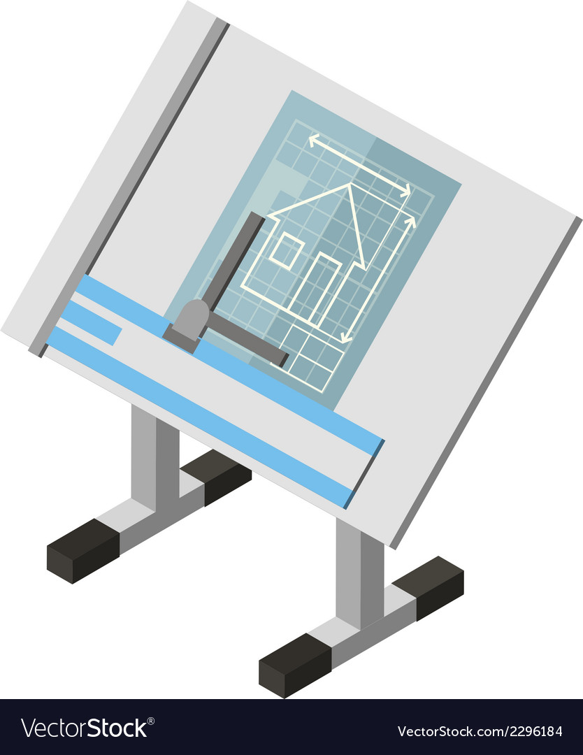 Projecting engineer table house architecture vector | Price: 1 Credit (USD $1)