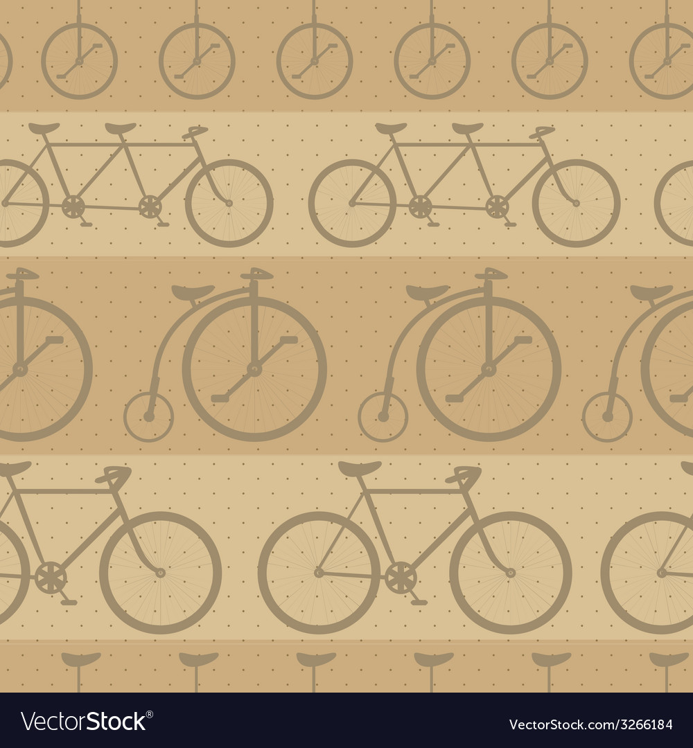 Retro bicycle pattern hipster background vector   Price: 1 Credit (USD $1)