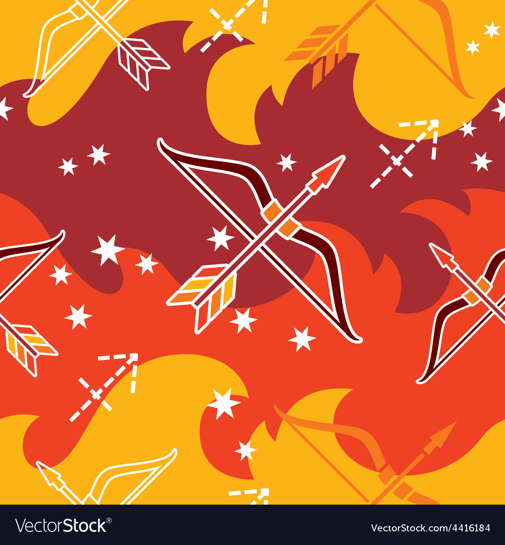 Sagittarius - zodiac seamless pattern vector | Price: 1 Credit (USD $1)