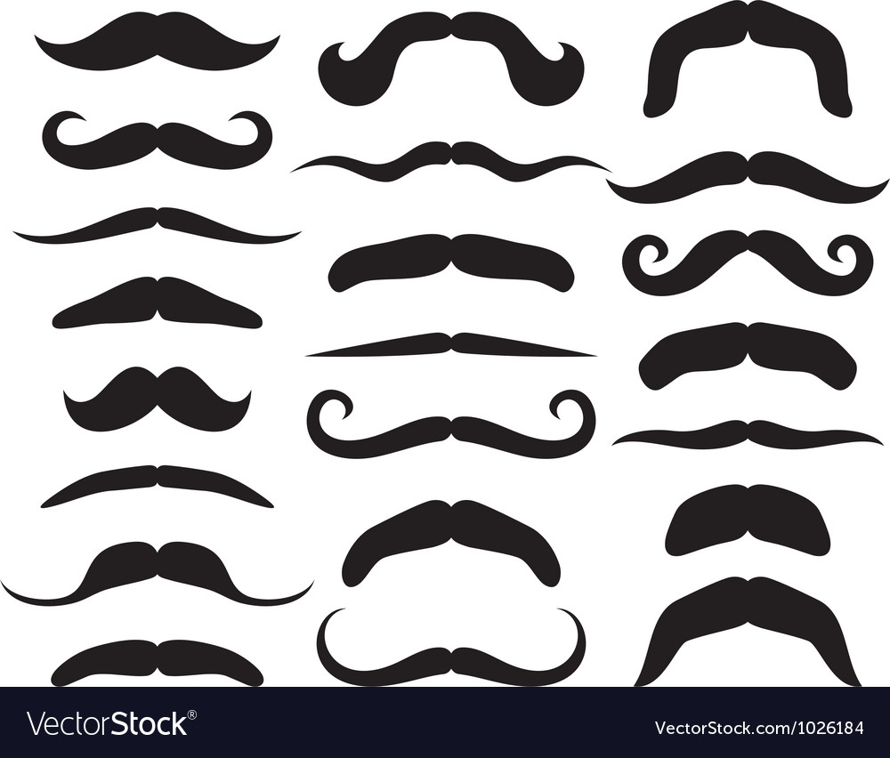 Set of mustache vector | Price: 1 Credit (USD $1)