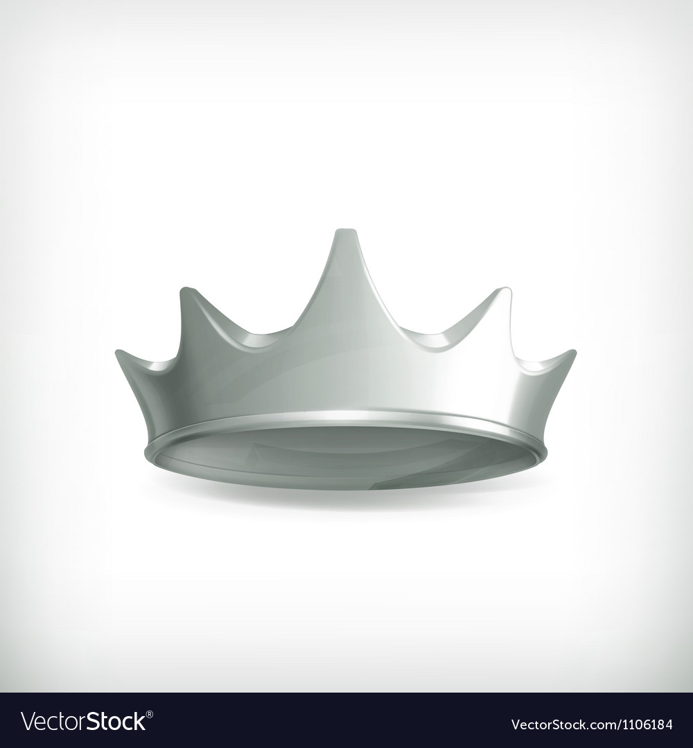 Silver crown vector | Price: 1 Credit (USD $1)