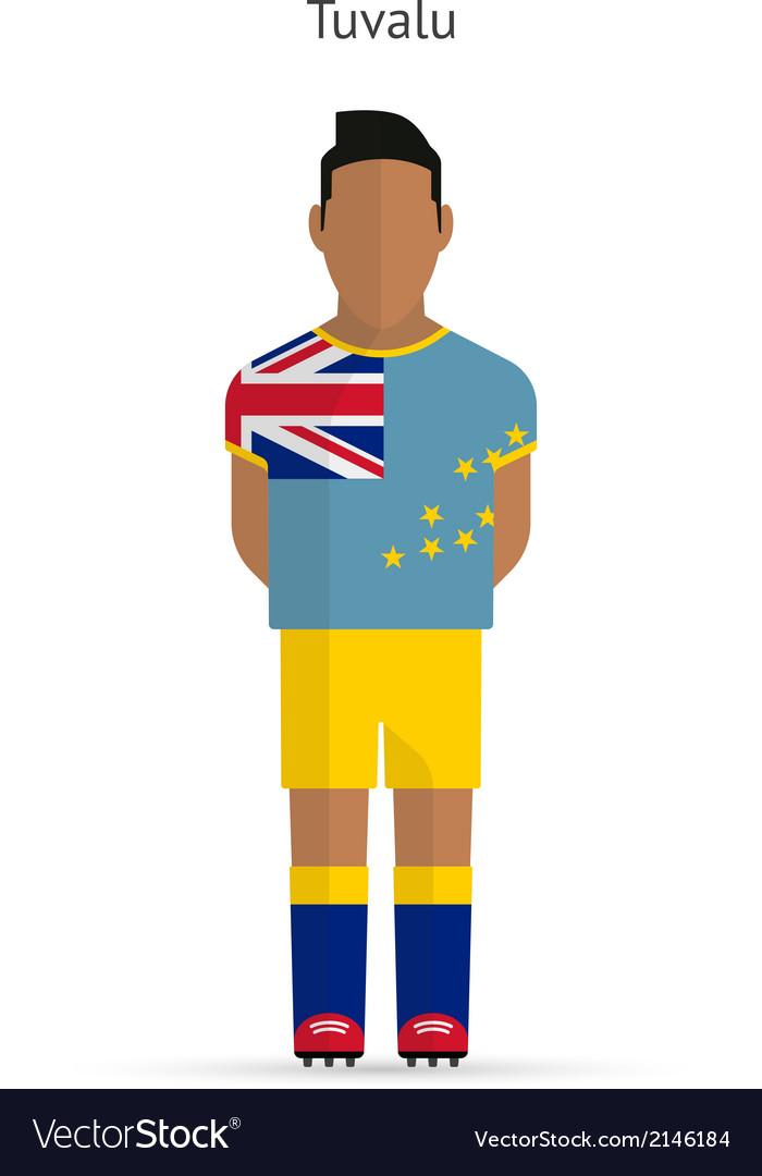 Tuvalu football player soccer uniform vector | Price: 1 Credit (USD $1)