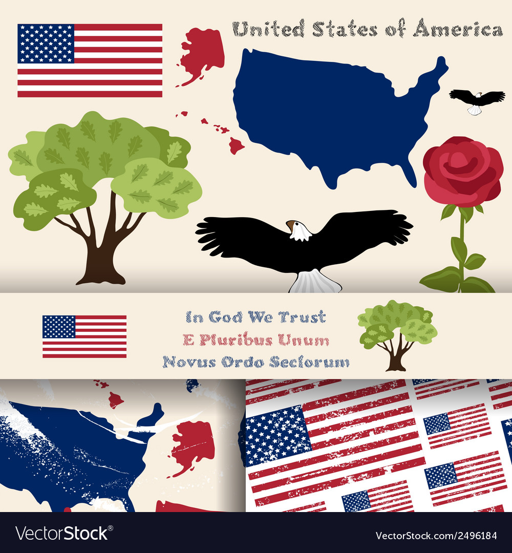 Usa symbols vector | Price: 1 Credit (USD $1)