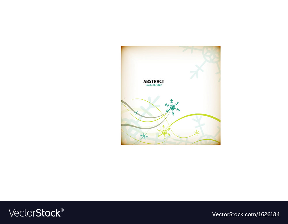 Vintage winter christmas card vector | Price: 1 Credit (USD $1)
