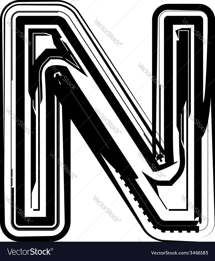 Abstract letter n vector | Price: 1 Credit (USD $1)