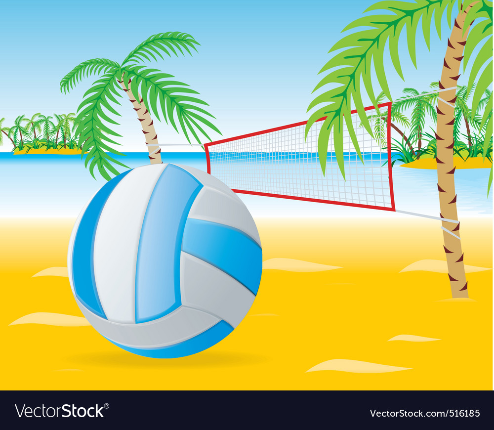 Beach volley vector | Price: 3 Credit (USD $3)