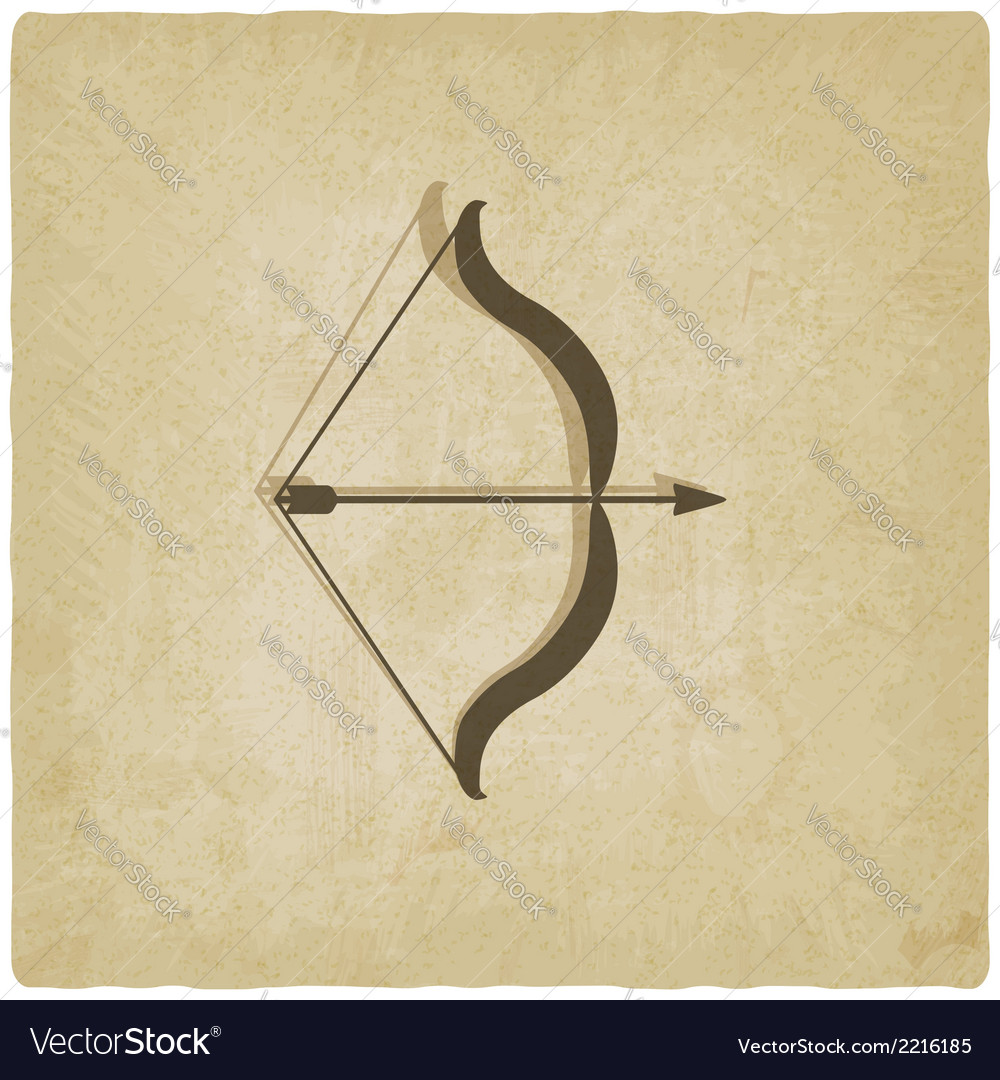 Bow and arrow old background vector | Price: 1 Credit (USD $1)