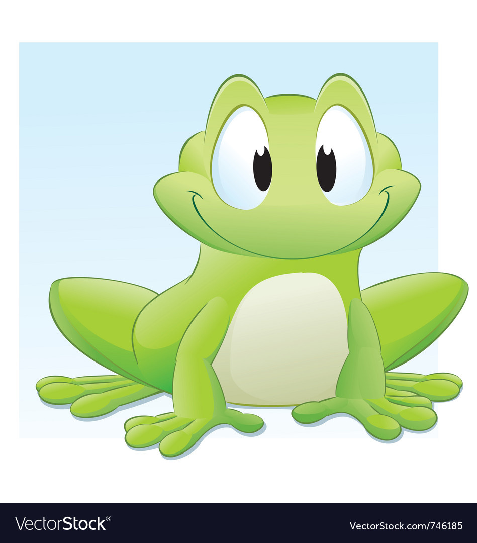 Cartoon frog vector | Price: 3 Credit (USD $3)