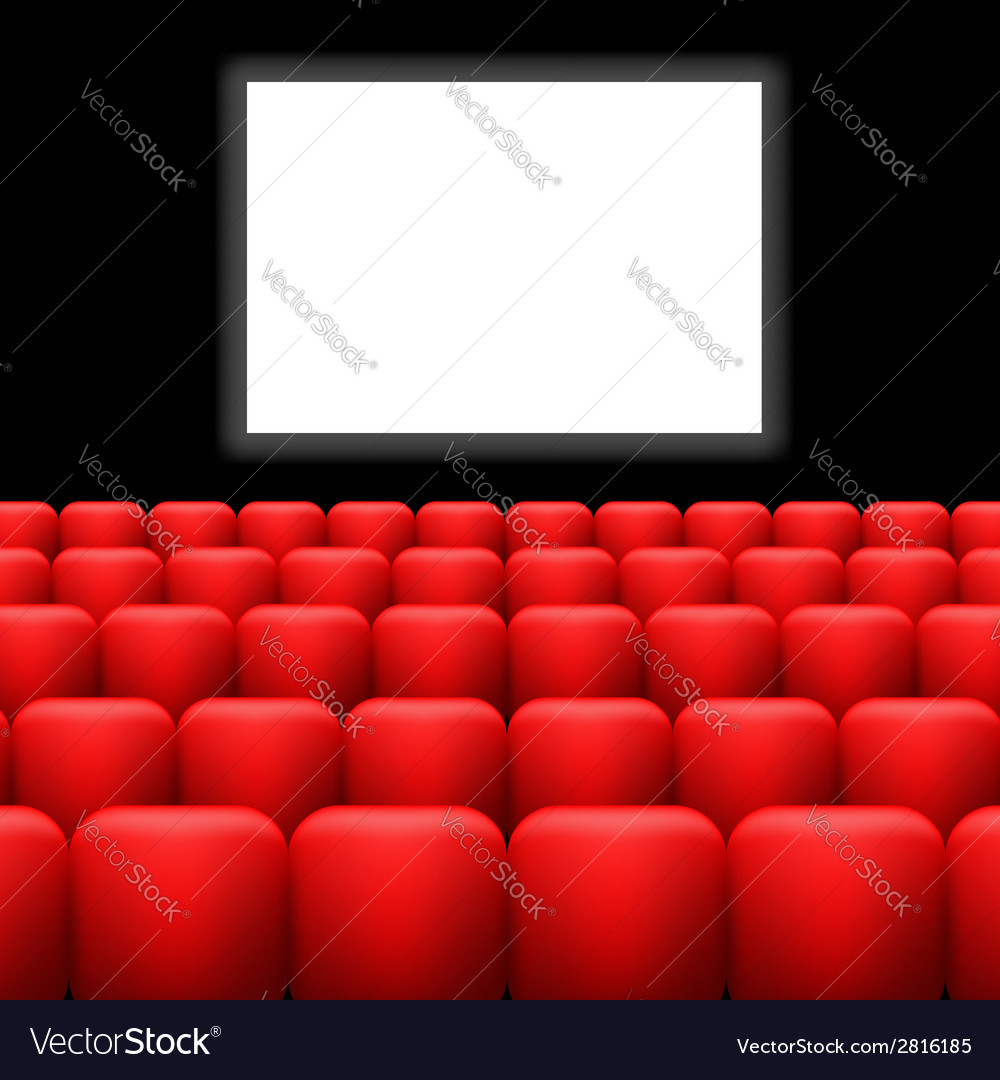 Cinema screen and red seats vector | Price: 1 Credit (USD $1)