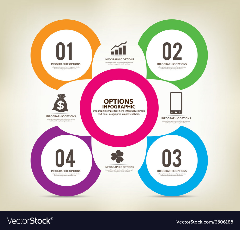 Colorful infographics options template vector   Price: 1 Credit (USD $1)