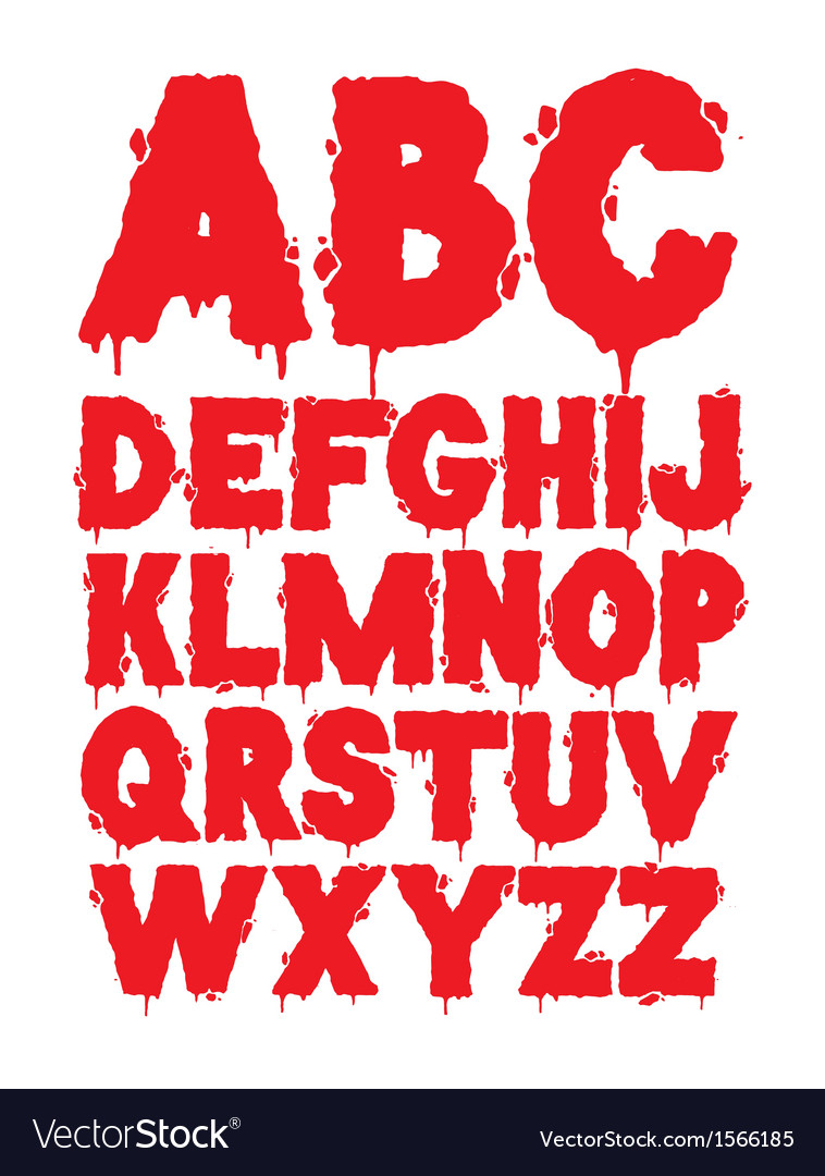Grunge font alphabet vector   Price: 1 Credit (USD $1)