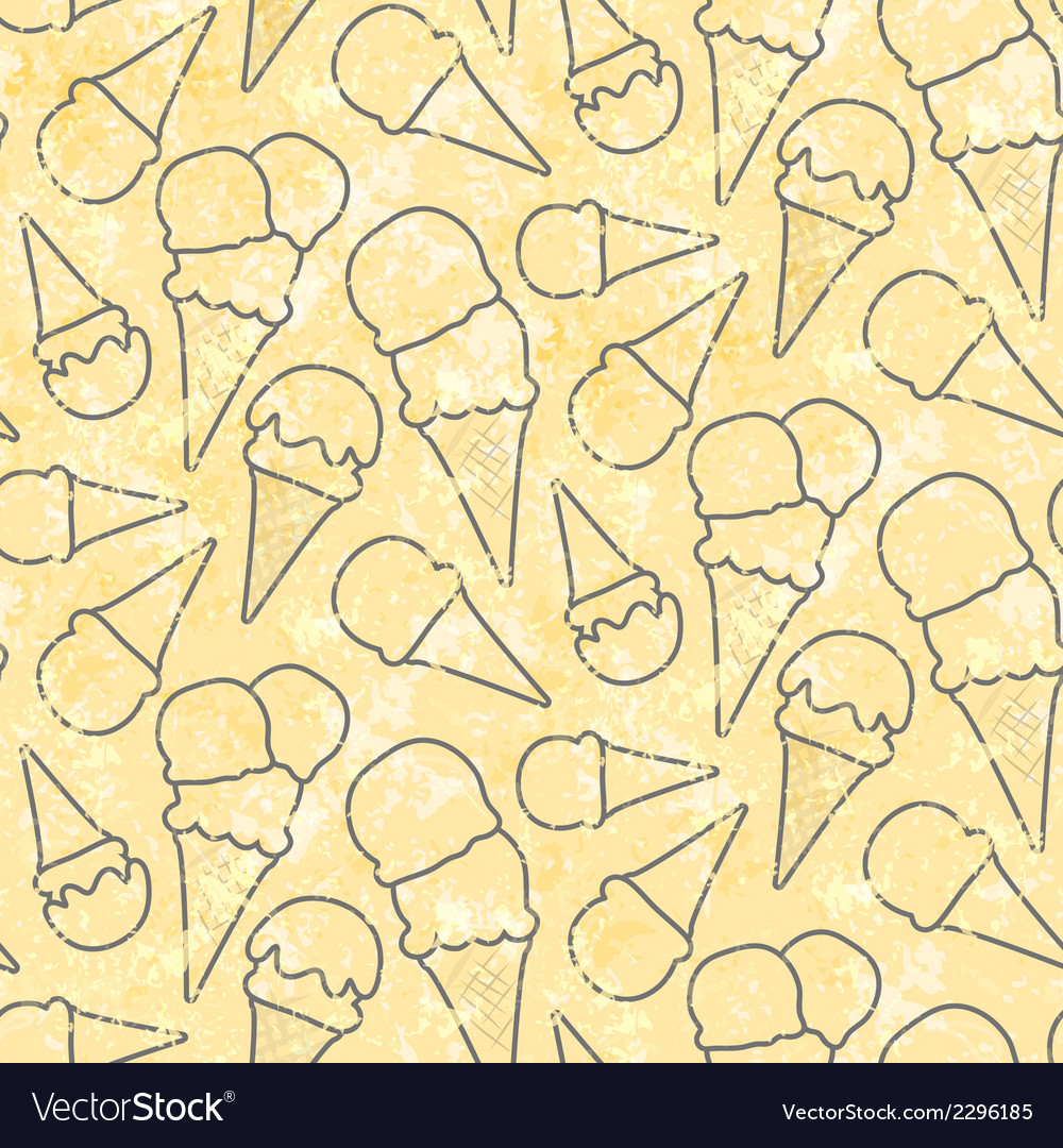 Grunge seamless pattern pattern with ice cream vector | Price: 1 Credit (USD $1)