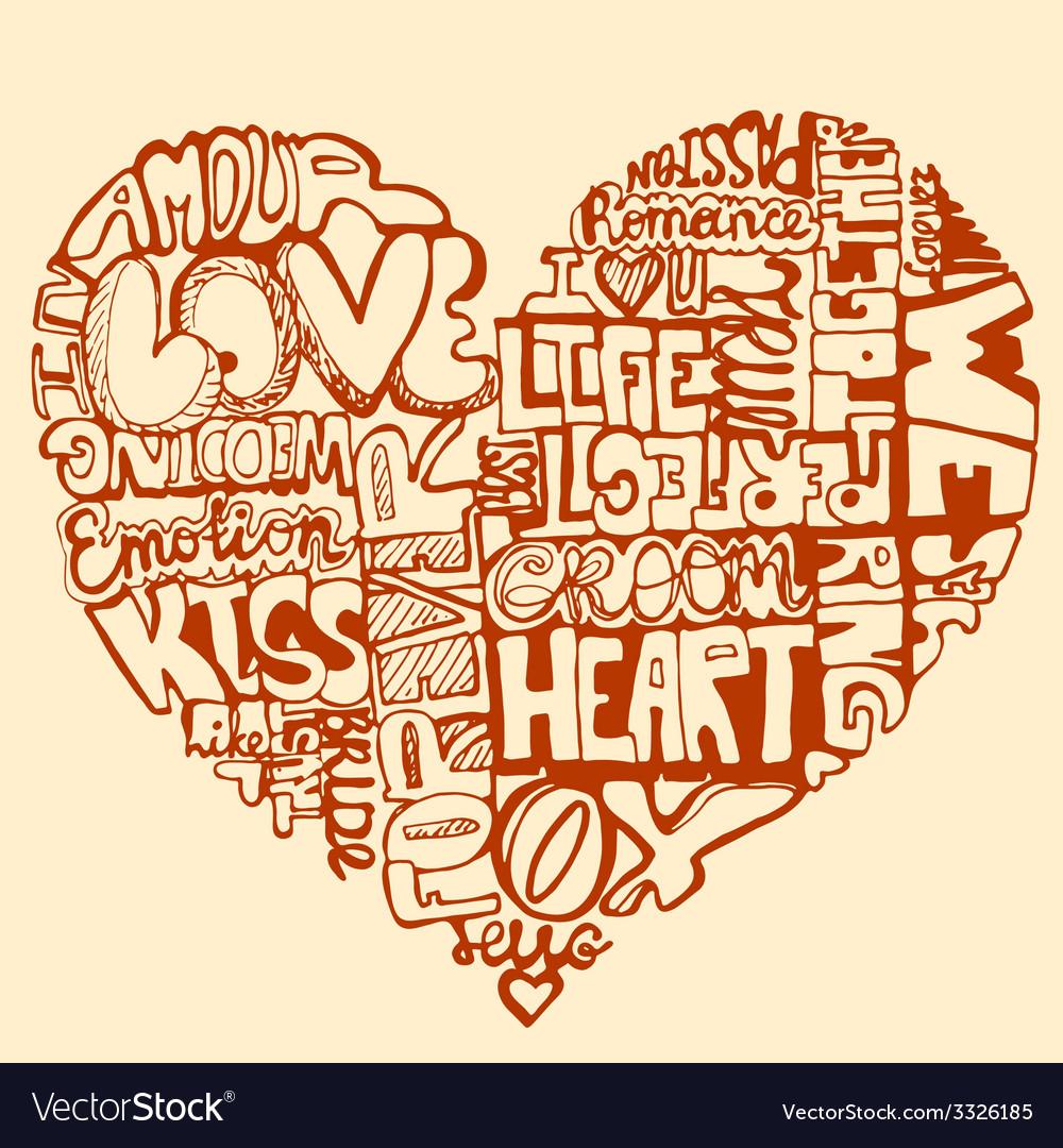 Heartwords2 vector | Price: 1 Credit (USD $1)