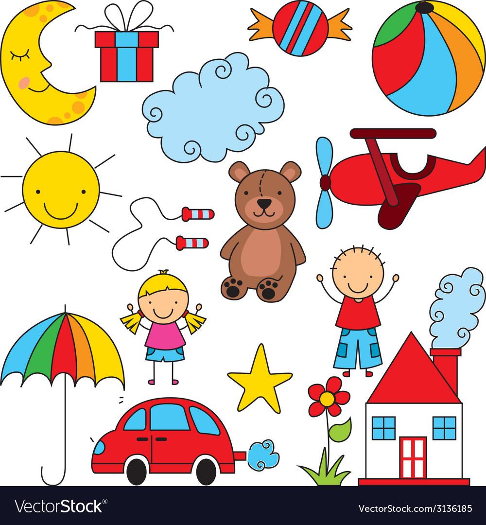 Kids design vector | Price: 1 Credit (USD $1)