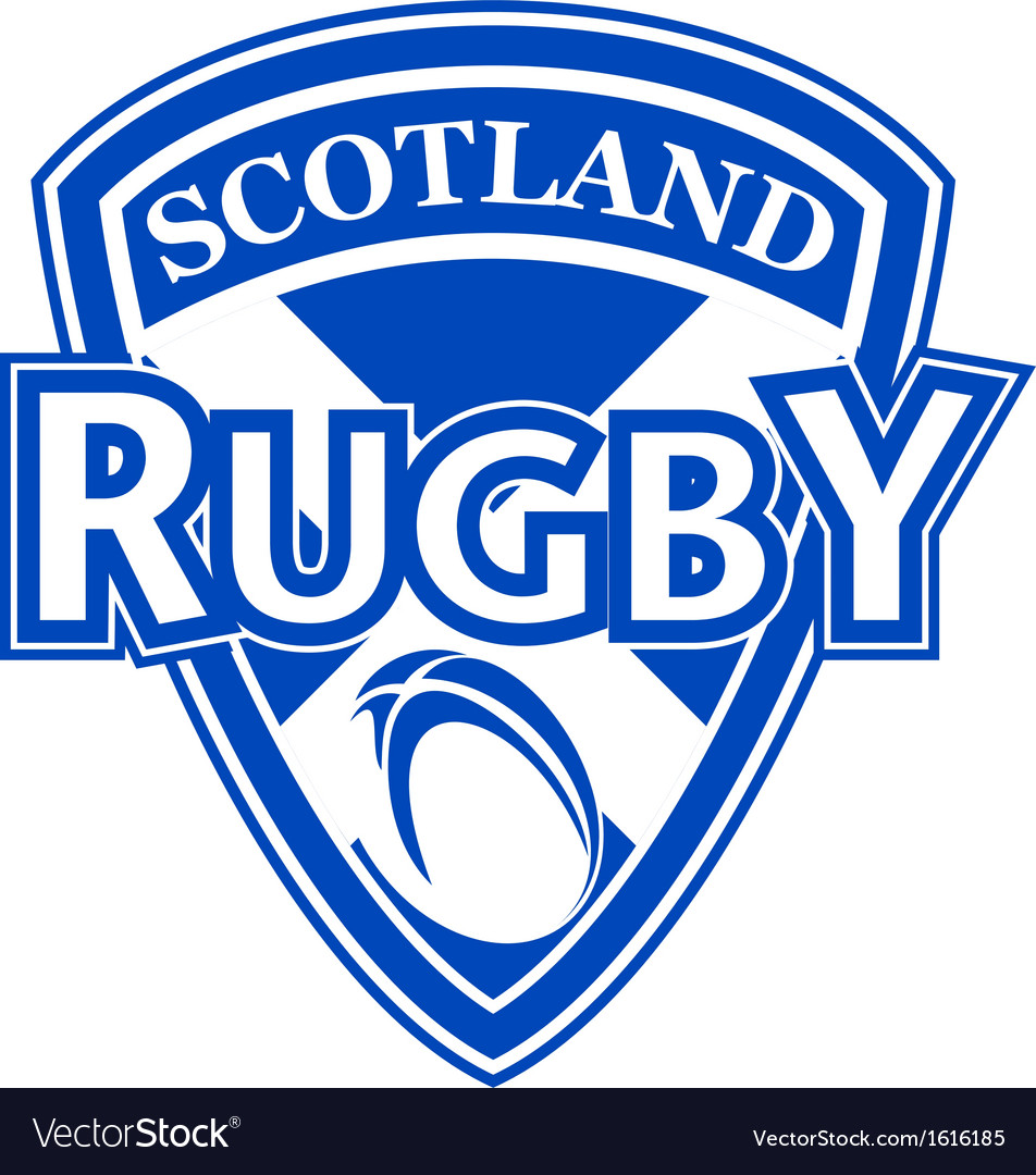 Rugby ball shield scotland flag vector | Price: 1 Credit (USD $1)