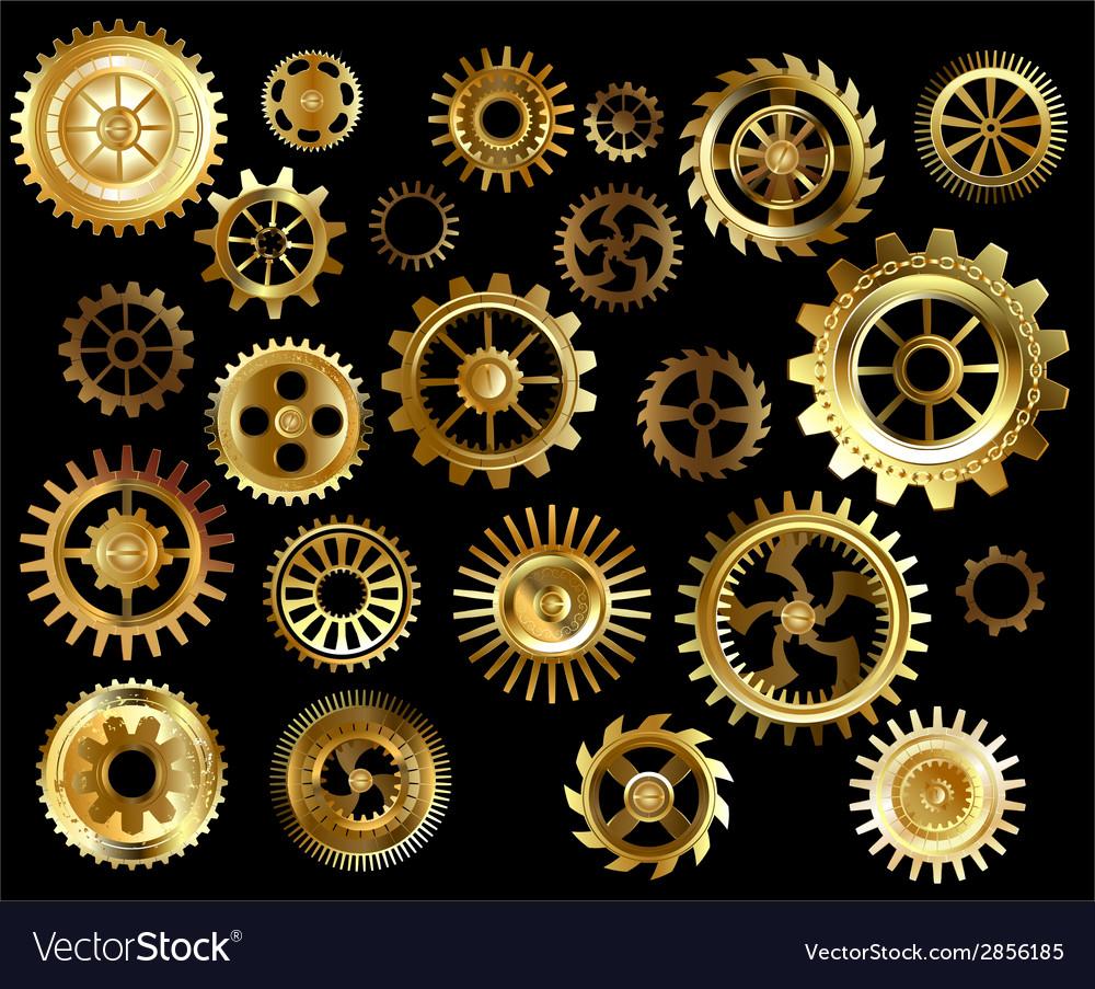 Set of gears vector | Price: 1 Credit (USD $1)