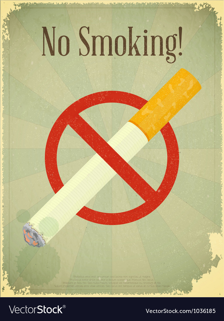 Sign no smoking vector | Price: 1 Credit (USD $1)