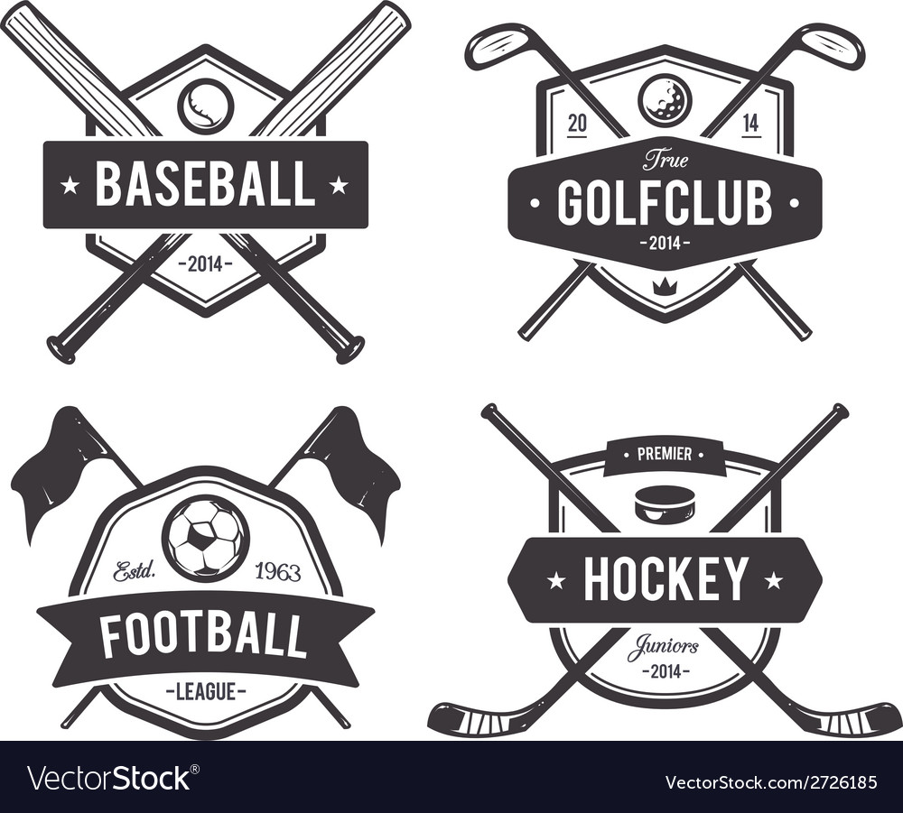 Sport emblems 1 vector | Price: 1 Credit (USD $1)