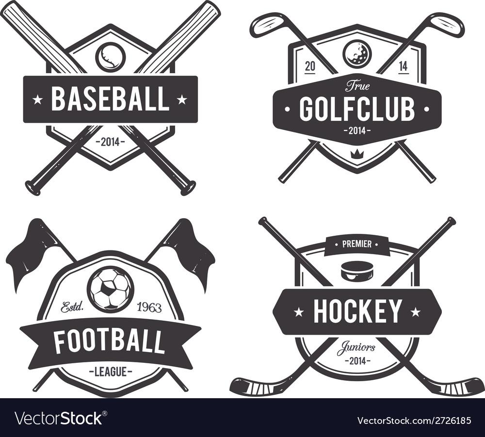 Sport emblems 1 vector | Price: 1 Credit (USD $1)