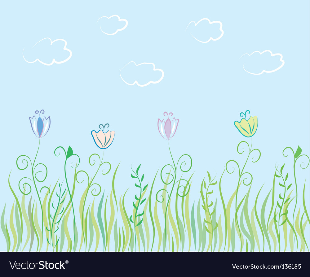 Summer grass background vector | Price: 1 Credit (USD $1)