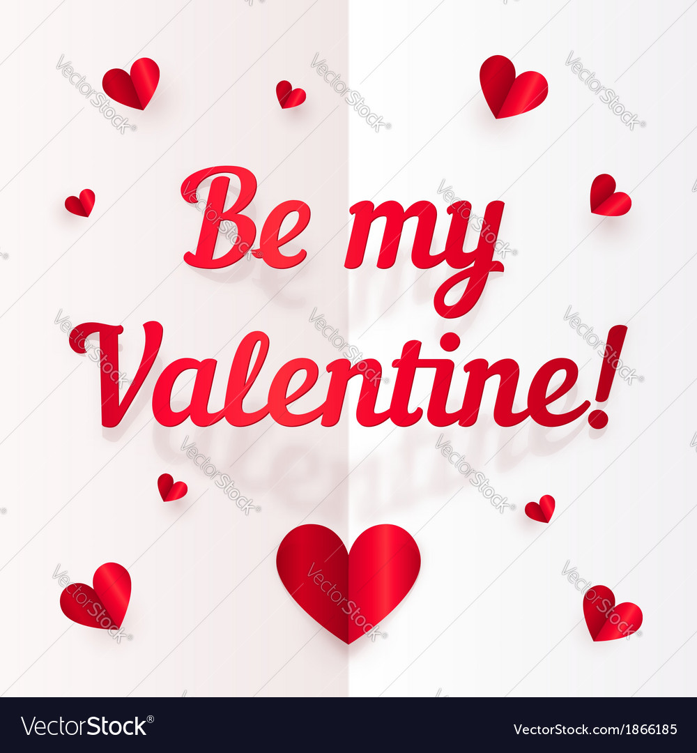 Valentines day paper greeting card vector | Price: 1 Credit (USD $1)