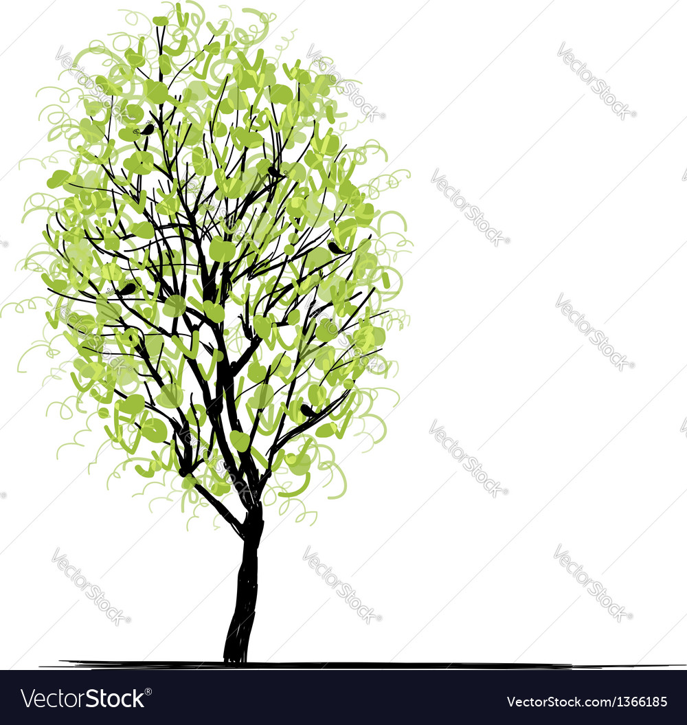 Young tree green for your design vector | Price: 1 Credit (USD $1)