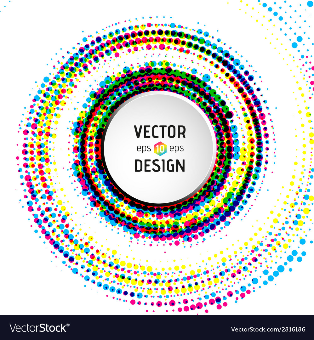 Abstract spiral background with colorful circles vector | Price: 1 Credit (USD $1)