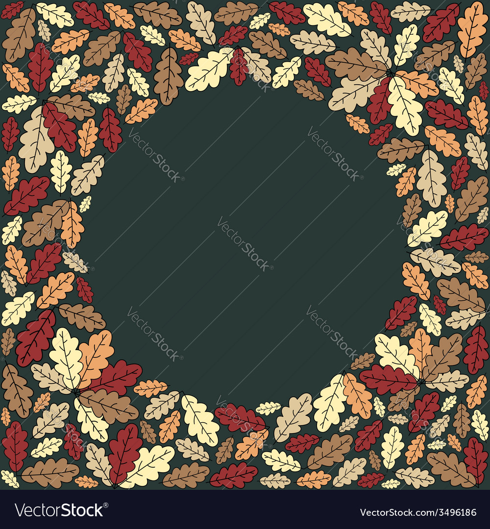 Background with colorful leaves vector | Price: 1 Credit (USD $1)