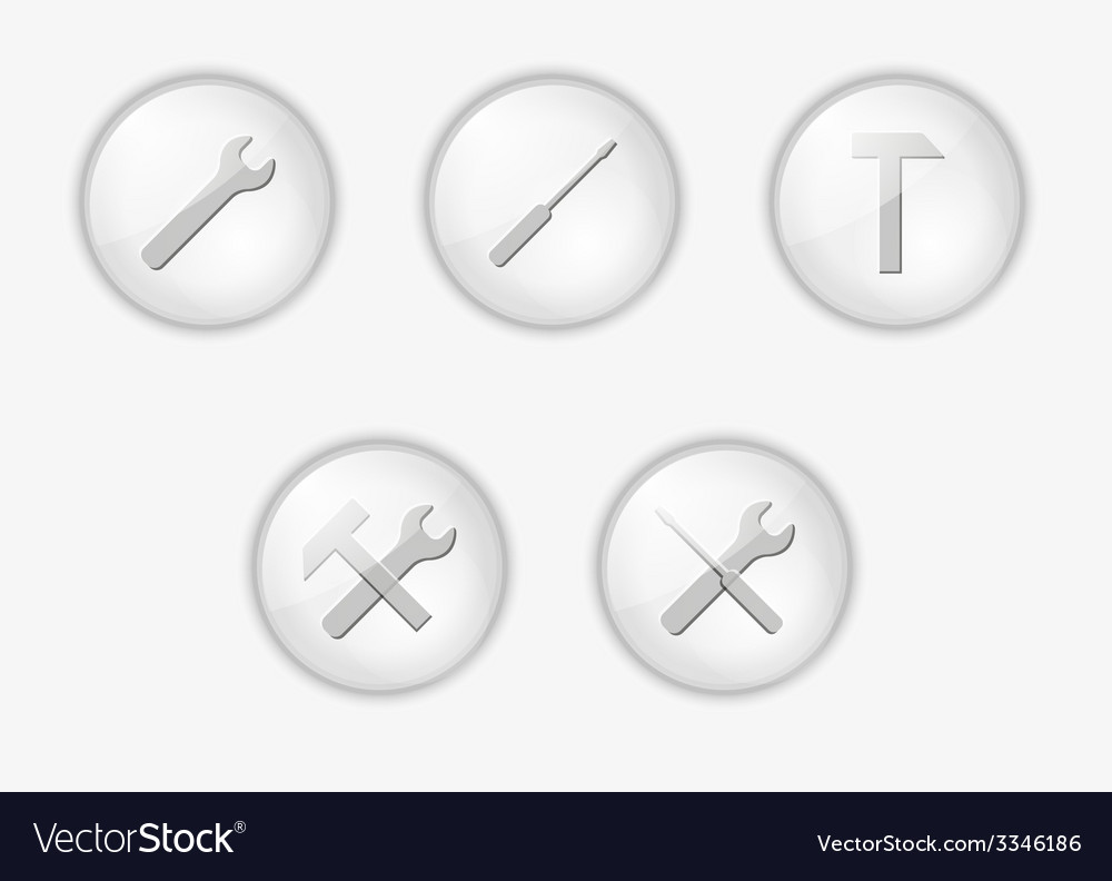 Buttons with tools vector | Price: 1 Credit (USD $1)