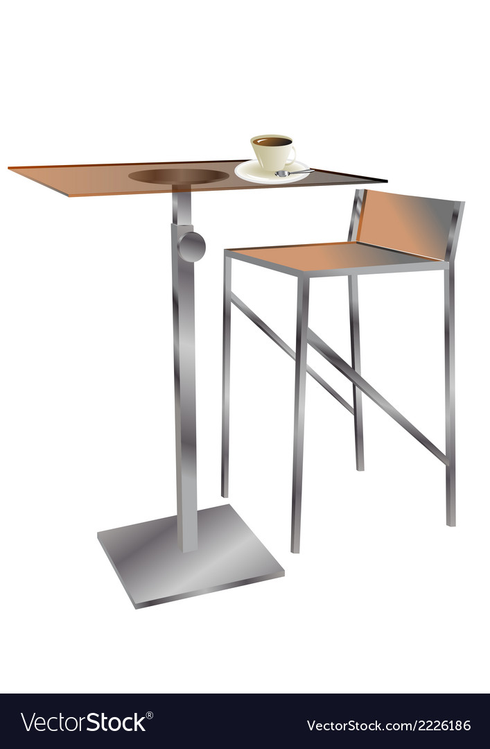 Cafe table with coffee vector | Price: 1 Credit (USD $1)