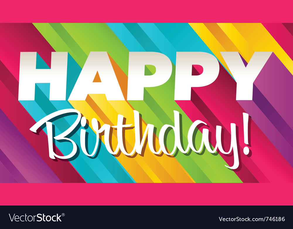 Colorful happy birthday vector | Price: 1 Credit (USD $1)