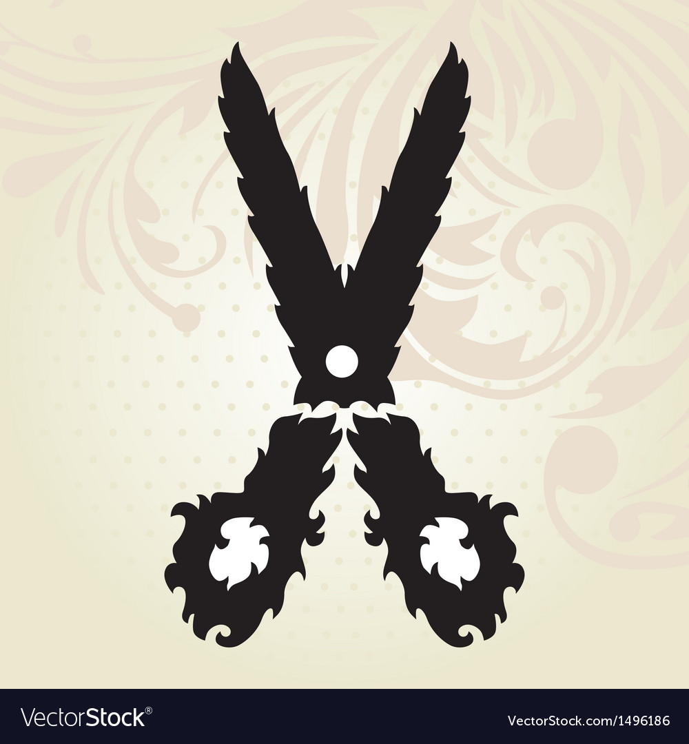 Decorative scissors vector | Price: 1 Credit (USD $1)