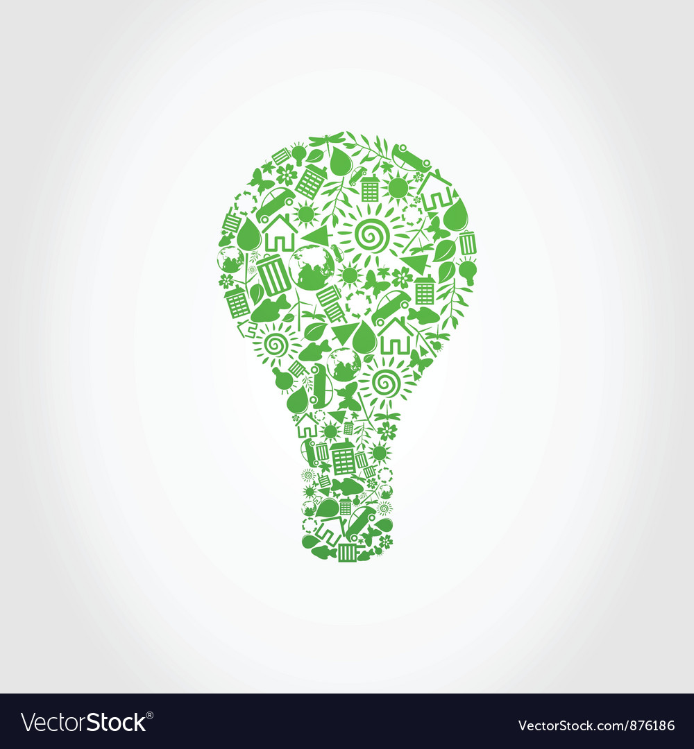 Ecology a bulb vector | Price: 1 Credit (USD $1)