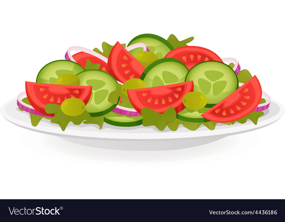 Fresh vegetable salad vector | Price: 1 Credit (USD $1)