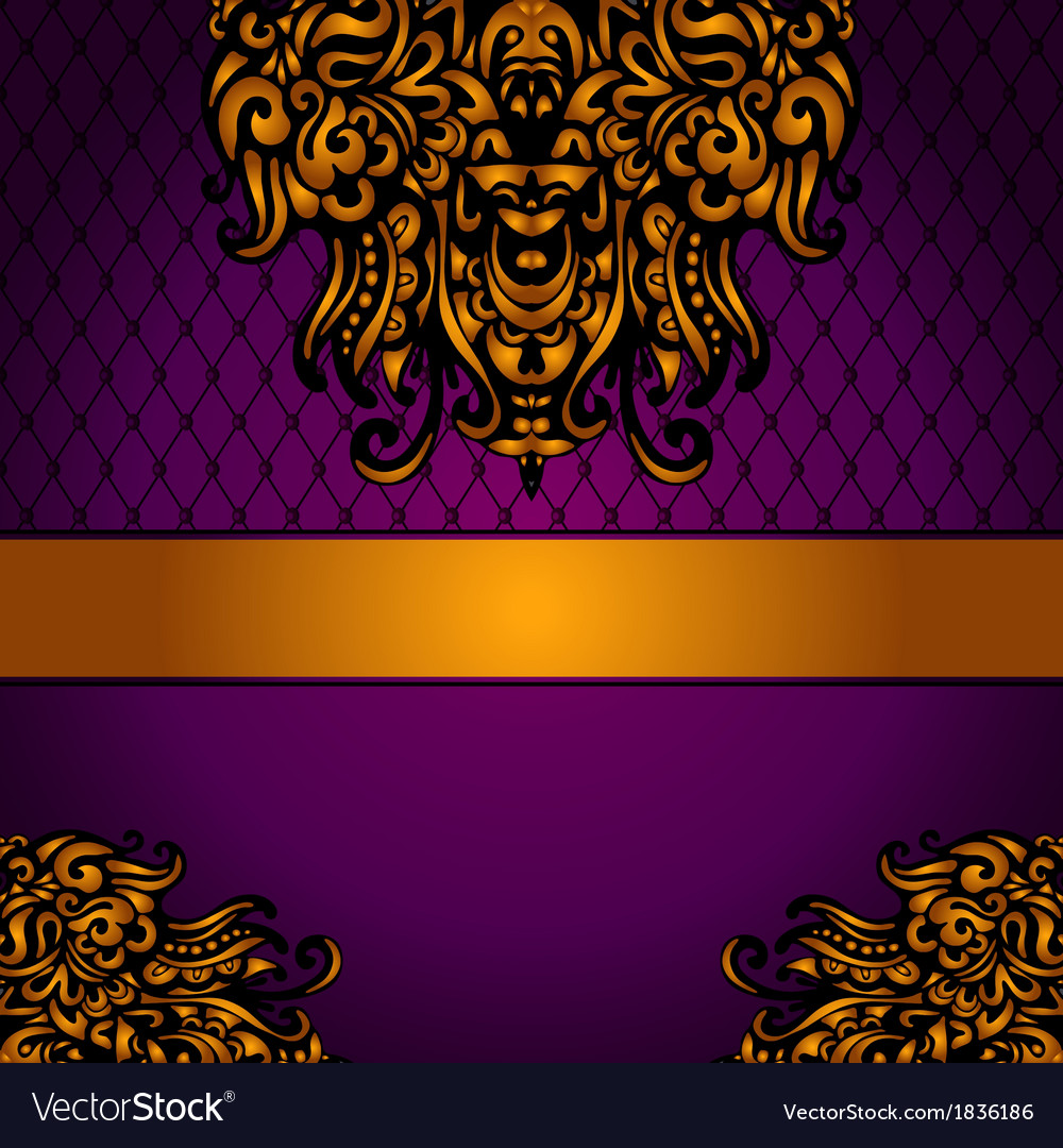 Golden luxury medallion vintage card vector | Price: 1 Credit (USD $1)