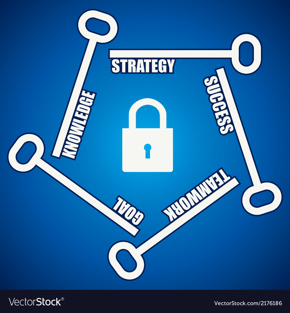 Group of keys required for open a success lock vector   Price: 1 Credit (USD $1)