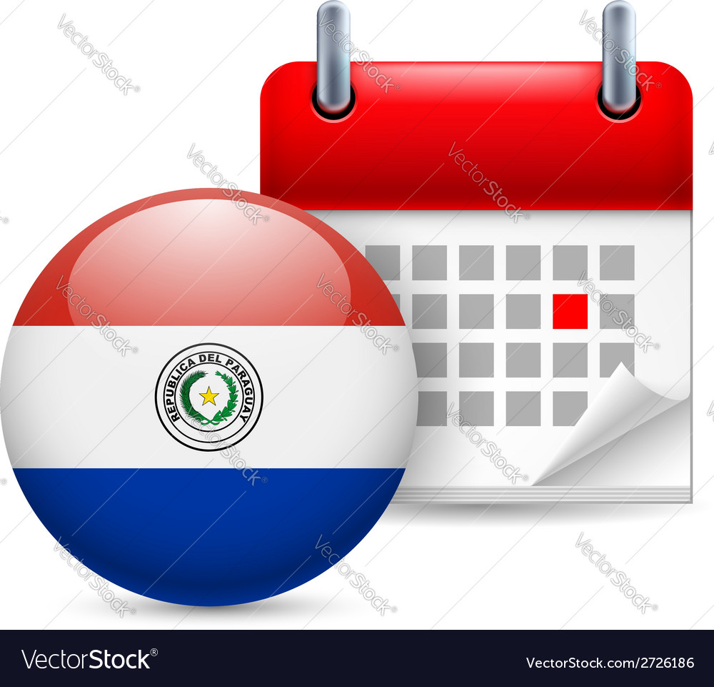 Icon of national day in paraguay vector   Price: 1 Credit (USD $1)
