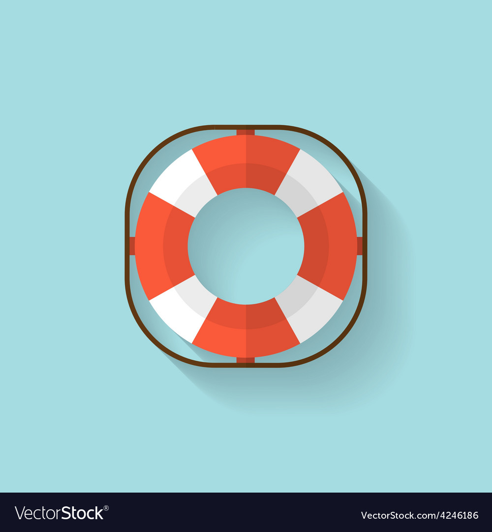 Lifebuoy flat web icon vector | Price: 1 Credit (USD $1)