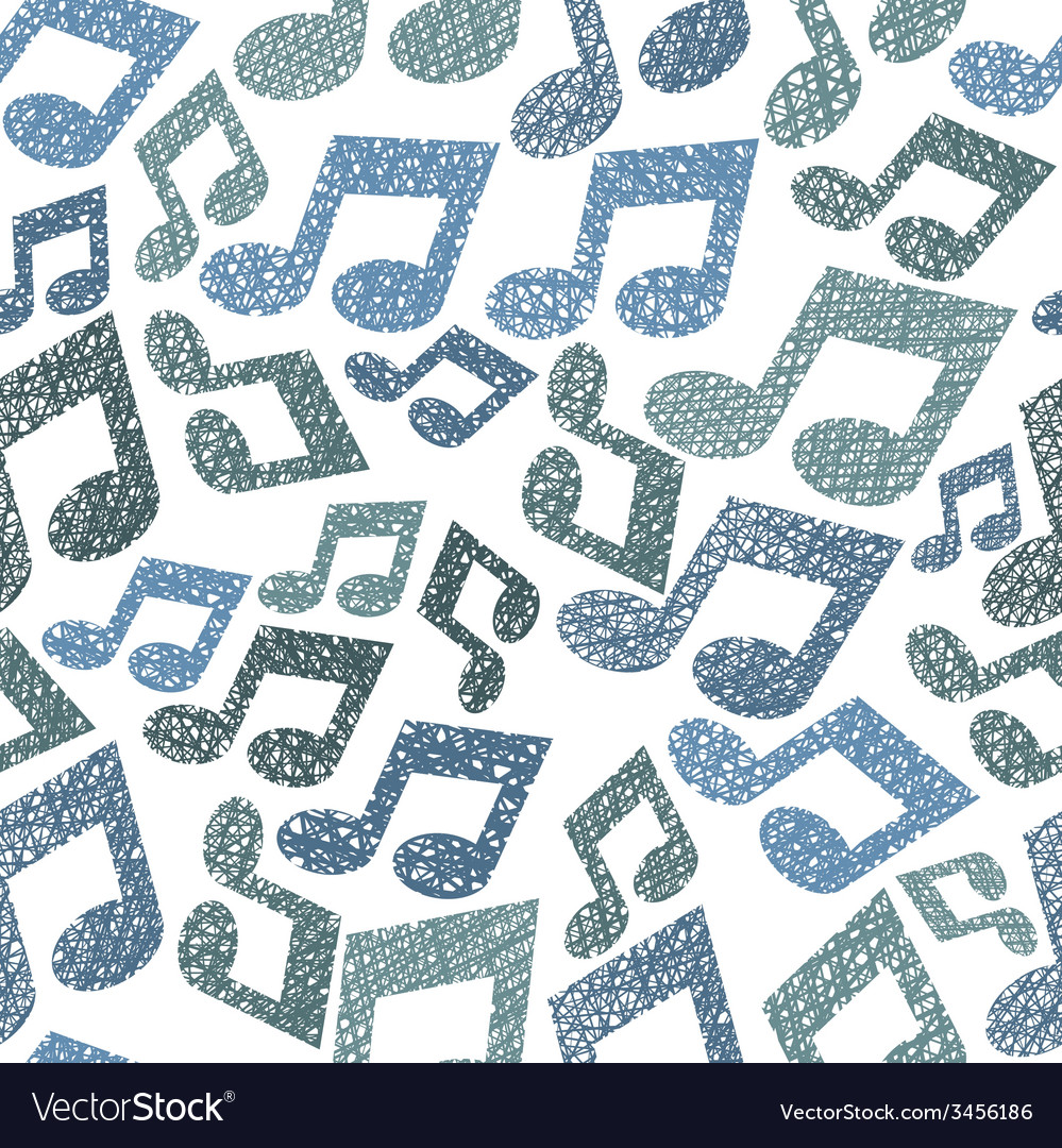 Music theme seamless pattern with notes repeating vector | Price: 1 Credit (USD $1)