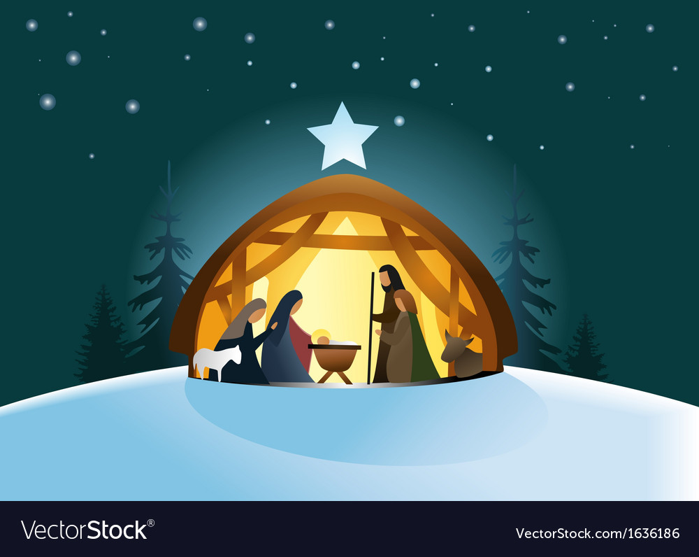Nativity scene vector | Price: 3 Credit (USD $3)