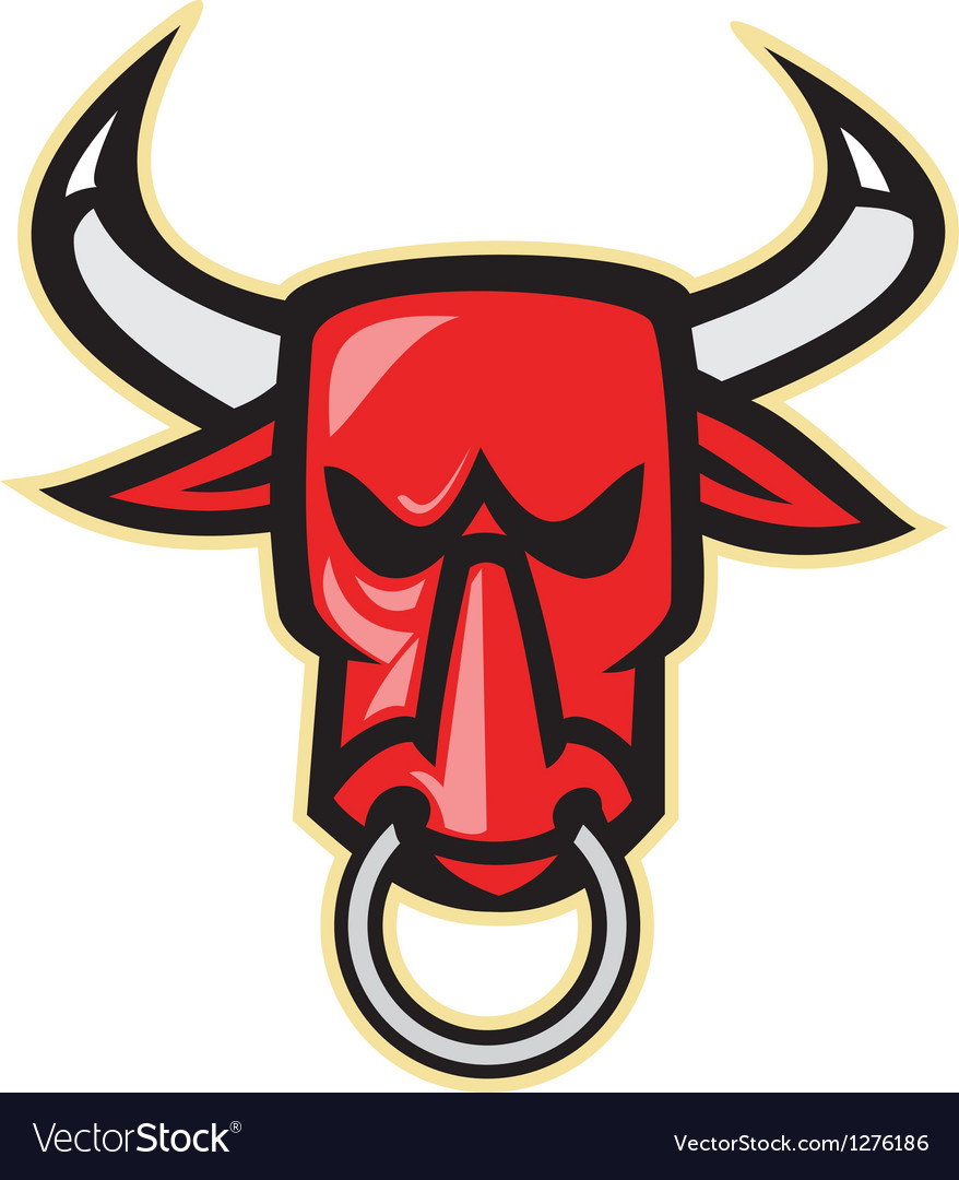 Raging angry bull head vector | Price: 1 Credit (USD $1)