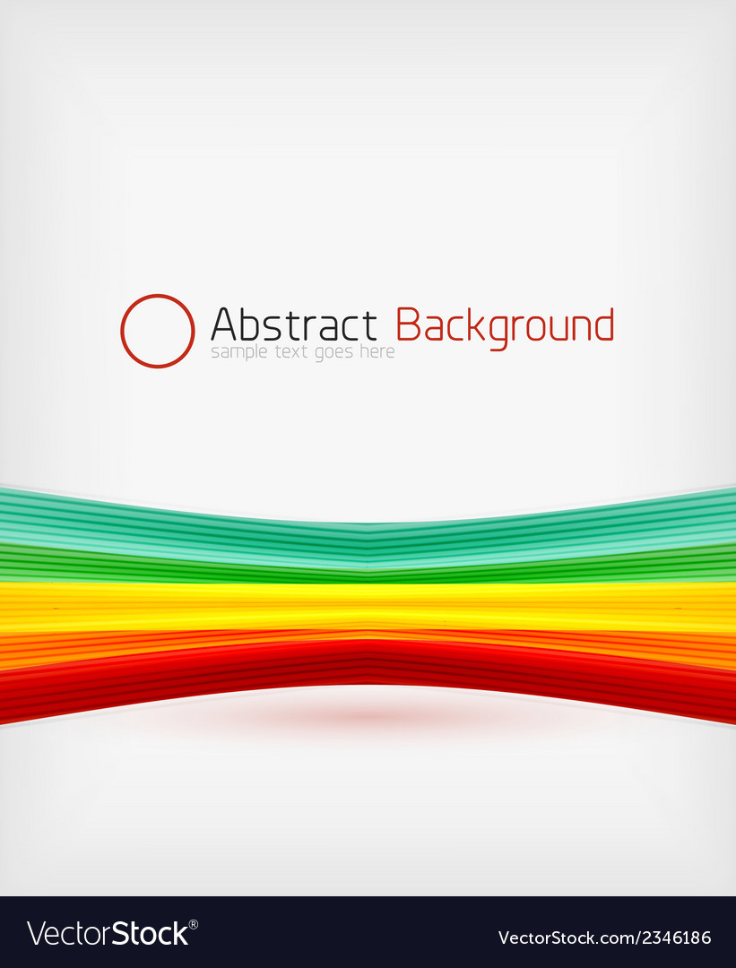 Rainbow color wave abstraction design template vector | Price: 1 Credit (USD $1)