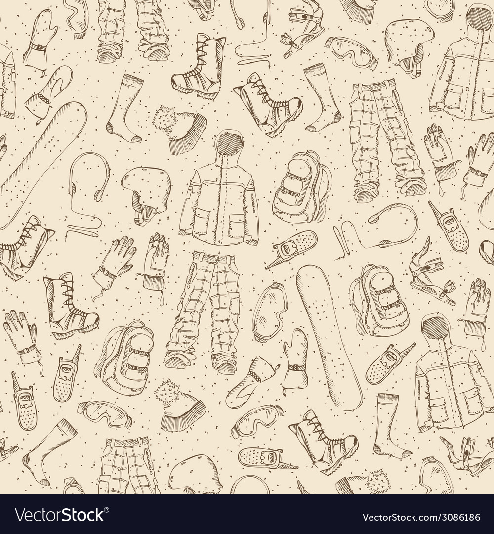 Seamless sketch pattern vector | Price: 1 Credit (USD $1)
